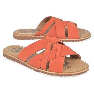 NWT Sorel Ella Slide Leather Sandals Size 9